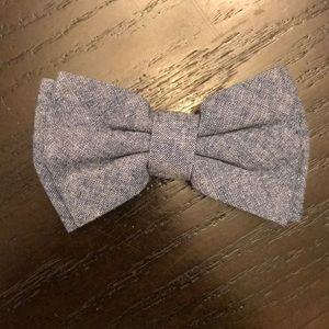 Other - Boys Chambray Clip On Bow Tie